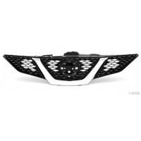 Mascherina griglia anteriore nissan qashqai 2014 al cromata nera con foro camera