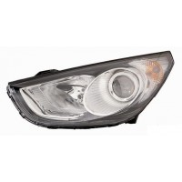 Headlight right front Hyundai ix35 2010 onwards chrome Lucana Headlights and Lights