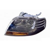 Headlight right front headlight Daewoo Kalos 2002 to 2008 black Lucana Headlights and Lights