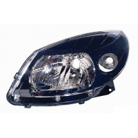 Headlight right front headlight for Dacia Sandero 2008 onwards stepway 2009 onwards black Lucana Headlights and Lights