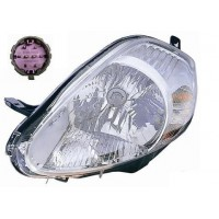 Headlight right front headlight for the Grande Punto 2008 onwards parable chrome pink connector Lucana Headlights and Lights