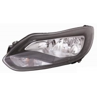 Headlight right front Ford Focus 2011 onwards black Lucana Headlights and Lights