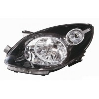 Headlight right front Renault Twingo 2007 onwards black Lucana Headlights and Lights