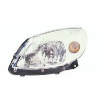 Headlight right front headlight for Dacia Sandero 2008 onwards stepway 2009 onwards chrome Lucana Headlights and Lights
