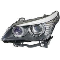 Headlight left front bmw 5 series E60 E61 2007 onwards xenon din. hella Headlights and Lights