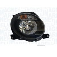 Headlight left front fiat 500 2007 onwards upper black marelli Headlights and Lights