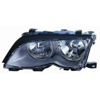 Headlight left front bmw 3 series E46 2001 to 2004 black Lucana Headlights and Lights
