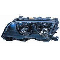 Headlight left front bmw 3 series E46 1998 to 2001 black Lucana Headlights and Lights