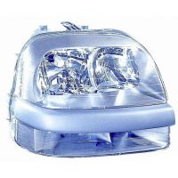 Headlight left front headlight for Fiat Doblo 2000 to 2005 with fog lights Lucana Headlights and Lights