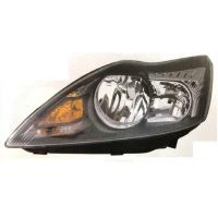 Headlight left front headlight for Ford Focus 2007 to 2010 Black Chrome Lucana Headlights and Lights