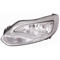 Headlight left front Ford Focus 2011 onwards chrome Lucana Headlights and Lights