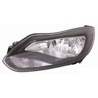 Headlight left front Ford Focus 2011 onwards black Lucana Headlights and Lights
