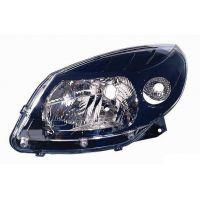 Headlight left front headlight for Dacia Sandero 2008 onwards stepway 2009 onwards black Lucana Headlights and Lights