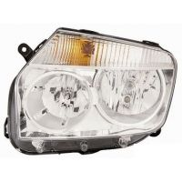 Headlight left front Dacia Duster 2010 onwards chrome Lucana Headlights and Lights