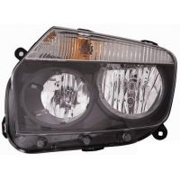 Headlight left front Dacia Duster 2010 onwards black Lucana Headlights and Lights