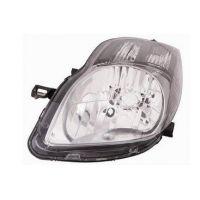 Headlight left front Toyota Yaris 2009 onwards black Lucana Headlights and Lights