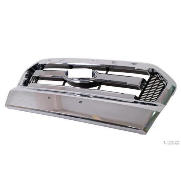 Bezel front grille Ford Ranger 2015 onwards in Chrome Lucana Bumper and accessories