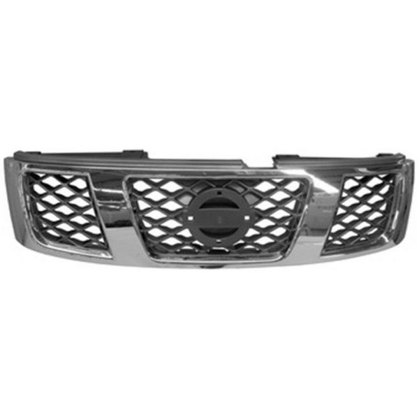 Bezel front grille for Nissan Patrol 2005 onwards chromed and gray Lucana Bumper and accessories