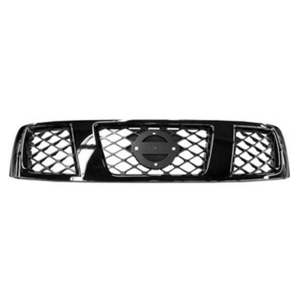 Bezel front grille for Nissan Patrol 2005 onwards chrome dark gray Lucana Bumper and accessories