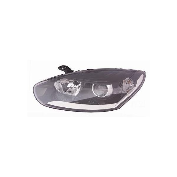 Headlight left front headlight for Renault Megane 2014 to 2015 with drl black Lucana Headlights and Lights