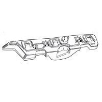 Bracket Front bumper right Fiat Punto Evo 2009 onwards point 2012 onwards Lucana Bumper and accessories