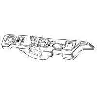 Bracket Front bumper left Fiat Punto Evo 2009 onwards point 2012 onwards Lucana Bumper and accessories