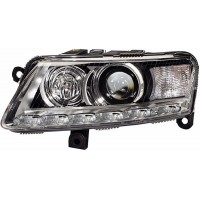 Headlight left front headlight AUDI A6 2008 to 2010 AFS xenon d3S/H8 hella Headlights and Lights