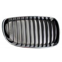 Grille screen right front BMW 1 Series E81 E87 E82 E88 1007 onwards Black Chrome Lucana Bumper and accessories