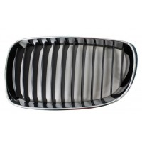 Grille screen left front BMW 1 Series E81 E87 E82 E88 1007 onwards Black Chrome Lucana Bumper and accessories