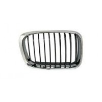 Grille screen right front BMW 3 Series E46 1998 to 2001 Black Chrome Lucana Bumper and accessories