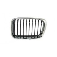 Grille screen left front BMW 3 Series E46 1998 to 2001 Black Chrome Lucana Bumper and accessories