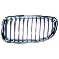 Grille screen left front BMW 3 Series E90 E91 2008 onwards Black Chrome Lucana Bumper and accessories