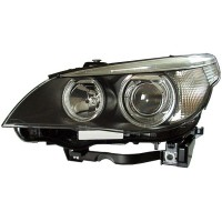 Headlight left front headlight bmw 5 series E60 E61 2003 to 2007 Bi Xenon D2S hella Headlights and Lights