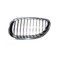 Grille screen left front BMW 5 Series E60 E61 2007 to 2009 chrome Lucana Bumper and accessories