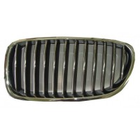 Mascherina griglia anteriore sinistra bmw serie 5 f10 f11 2010 al 2013 cromata nera Lucana Bumper and accessories