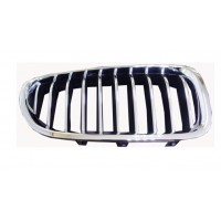 Grille screen right front bmw 5 series F10 F11 2013 onwards chrome Black Chrome Lucana Bumper and accessories