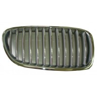 Grille screen right front bmw 5 series F10 F11 2010 2013 Gray Chrome Lucana Bumper and accessories