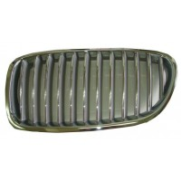 Grille screen left front bmw 5 series F10 F11 2010 2013 Gray Chrome Lucana Bumper and accessories