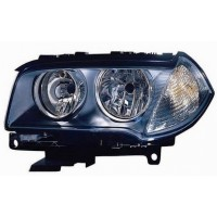Headlight right front headlight BMW X3 E83 2006 to 2010 H7 black dish Lucana Headlights and Lights