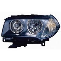 Headlight left front headlight BMW X3 E83 2006 to 2010 H7 black dish Lucana Headlights and Lights