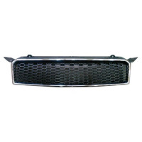 Bezel front grille Chevrolet Aveo 2008 to 2010 Black Chrome Lucana Bumper and accessories