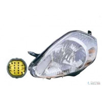 Headlight left front headlight for the Fiat Grande Punto 2005 to 2008 parable chrome yellow connector Lucana Headlights and L...
