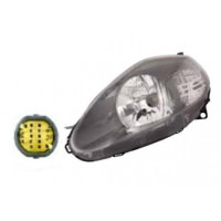Headlight right front headlight for the Fiat Grande Punto 2008 onwards parable gray yellow connector Lucana Headlights and Li...