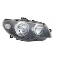 Headlight right front headlight for Fiat Palio road 2005 onwards black Lucana Headlights and lights
