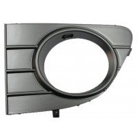 Left grille trim front front for Fiat Punto Evo 2009 onwards metal dark with hole Lucana Bumper and accessories