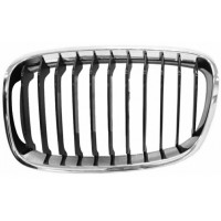 Grille screen front left for BMW 1 SERIES F20 F21 2011 onwards urban chrome and black Lucana Bumper and accessories