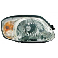 Headlight right front headlight for Hyundai Accent 2002 to 2006 4/5 Doors white arrow Lucana Headlights and Lights
