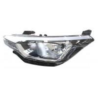 Headlight right front headlight for Hyundai i20 2014 onwards black parabola 5 doors Lucana Headlights and Lights