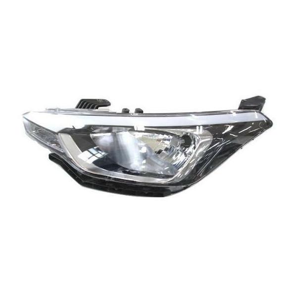 Right headlight for Hyundai i20 2014 onwards black parabola 5 doors Aftermarket Lighting