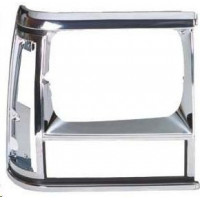 Frame Right Headlight for jeep Cherokee 1991 to 1996 black and chrome plated Lucana Bumper and accessories